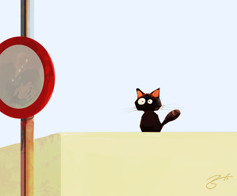 chapter 56 lil black cat on a wall